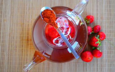 Spicy rooibos με φράουλες
